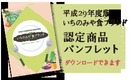 2017いちのみや食ブランド認定商品パンフレット