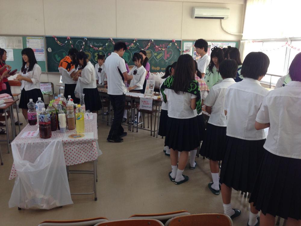 木曽川高等学校の文化祭で「いち...